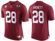 Wholesale Cheap Men's Alabama Crimson Tide #28 Anthony Averett Red 2017 Championship Game Patch Stitched CFP Nike Limited Jersey