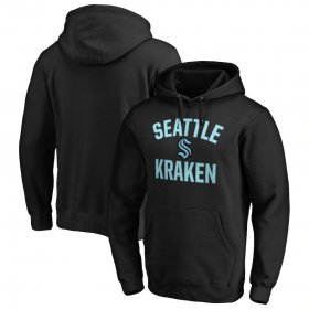Wholesale Cheap Seattle Kraken Victory Arch Pullover Hoodie Black