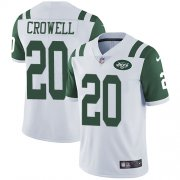 Wholesale Cheap Nike Jets #20 Isaiah Crowell White Men's Stitched NFL Vapor Untouchable Limited Jersey