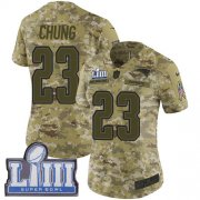 Wholesale Cheap Nike Patriots #23 Patrick Chung Camo Super Bowl LIII Bound Women's Stitched NFL Limited 2018 Salute to Service Jersey