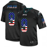 Wholesale Cheap Nike Eagles #9 Nick Foles Black Men's Stitched NFL Elite USA Flag Fashion Jersey