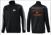 Wholesale NFL Kansas City Chiefs Heart Jacket Black_2