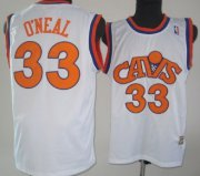 Wholesale Cheap Cleveland Cavaliers #33 Shaquille O'neal CavFanatic White Swingman Throwback Jersey