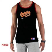 Wholesale Cheap Men's Nike Baltimore Orioles Home Practice Tank Top Black