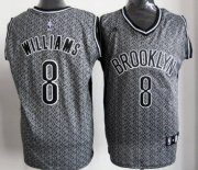 Wholesale Cheap Brooklyn Nets #8 Deron Williams Gray Static Fashion Jersey
