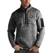 Wholesale Cheap Ottawa Senators Antigua Fortune Quarter-Zip Pullover Jacket Charcoal