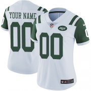 Wholesale Cheap Nike New York Jets Customized White Stitched Vapor Untouchable Limited Women's NFL Jersey