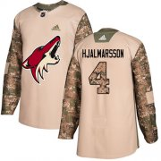 Wholesale Cheap Adidas Coyotes #4 Niklas Hjalmarsson Camo Authentic 2017 Veterans Day Stitched NHL Jersey