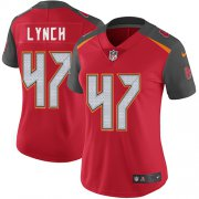 Wholesale Cheap Nike Buccaneers #47 John Lynch Red Team Color Women's Stitched NFL Vapor Untouchable Limited Jersey