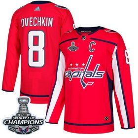 Wholesale Cheap Adidas Capitals #8 Alex Ovechkin Red Home Authentic Stanley Cup Final Champions Stitched NHL Jersey