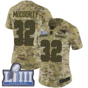 Wholesale Cheap Nike Patriots #32 Devin McCourty Camo Super Bowl LIII Bound Women's Stitched NFL Limited 2018 Salute to Service Jersey