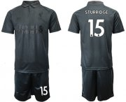 Wholesale Cheap Liverpool #15 Sturridge Black Soccer Club Jersey