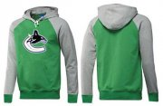 Wholesale Cheap Vancouver Canucks Pullover Hoodie Green & Grey