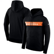 Wholesale Cheap Men's Cincinnati Bengals Nike Black Sideline Team Performance Pullover Hoodie