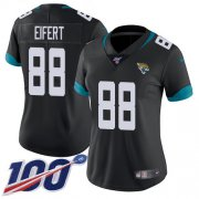 Wholesale Cheap Nike Jaguars #88 Tyler Eifert Black Team Color Women's Stitched NFL 100th Season Vapor Untouchable Limited Jersey