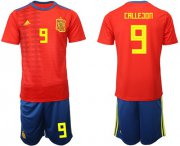 Wholesale Cheap Spain #9 Callejon Home Soccer Country Jersey
