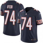 Wholesale Cheap Nike Bears #74 Germain Ifedi Navy Blue Team Color Men's Stitched NFL Vapor Untouchable Limited Jersey