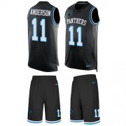 Wholesale Cheap Nike Panthers #11 Robby Anderson Black Team Color Men's Stitched NFL Limited Tank Top Suit Jersey