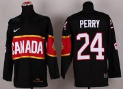 Wholesale Cheap Olympic 2014 CA. #24 Corey Perry Black Stitched NHL Jersey