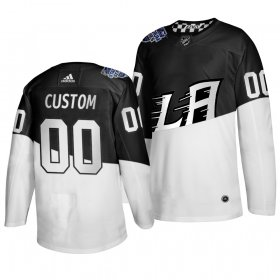 Wholesale Cheap Adidas Los Angeles Kings Custom Men\'s 2020 Stadium Series White Black Stitched NHL Jersey