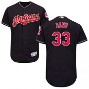 Wholesale Cheap Indians #33 Brad Hand Navy Blue Flexbase Authentic Collection Stitched MLB Jersey