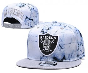 Wholesale Cheap Raiders Team Logo Smoke Cream Adjustable Hat TX