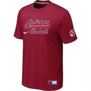Wholesale Cheap Nike Cleveland Indians Short Sleeve Practice T-Shirt Red