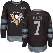Wholesale Cheap Adidas Penguins #7 Joe Mullen Black 1917-2017 100th Anniversary Stitched NHL Jersey