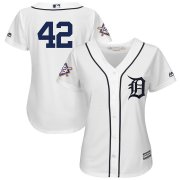 Wholesale Cheap San Diego Padres #42 Majestic Women's 2019 Jackie Robinson Day Official Cool Base Jersey White