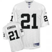 Wholesale Cheap Raiders #21 Nnamdi Asomugha White Stitched NFL Jersey