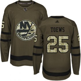 Wholesale Cheap Adidas Islanders #25 Devon Toews Green Salute to Service Stitched NHL Jersey