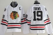 Wholesale Cheap Blackhawks #19 Jonathan Toews White 2015 Winter Classic Stitched Youth NHL Jersey