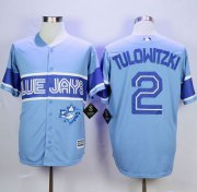 Wholesale Cheap Blue Jays #2 Troy Tulowitzki Light Blue Exclusive New Cool Base Stitched MLB Jersey