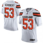 Wholesale Cheap Nike Browns #53 Joe Schobert White Men's Stitched NFL New Elite Jersey