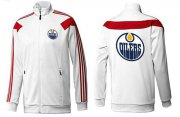 Wholesale Cheap NHL Edmonton Oilers Zip Jackets White-3