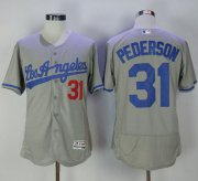 Wholesale Cheap Dodgers #31 Joc Pederson Grey Flexbase Authentic Collection Road Stitched MLB Jersey