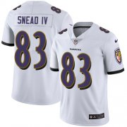 Wholesale Cheap Nike Ravens #83 Willie Snead IV White Men's Stitched NFL Vapor Untouchable Limited Jersey