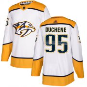Wholesale Cheap Adidas Predators #95 Matt Duchene White Road Authentic Stitched NHL Jersey