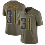 Wholesale Cheap Nike Chargers #31 Adrian Phillips Olive Men's Stitched NFL Limited 2017 Salute To Service Jersey