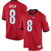 Wholesale Cheap Men's Georgia Bulldogs #8 A. J. Green Red Stitched College Football 2016 Nike NCAA Jersey