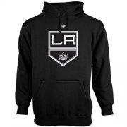 Wholesale Cheap Los Angeles Kings Old Time Hockey Big Logo with Crest Pullover Hoodie Black