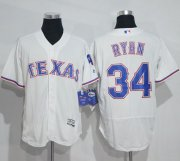 Wholesale Cheap Rangers #34 Nolan Ryan White Flexbase Authentic Collection Stitched MLB Jersey
