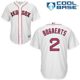 Wholesale Cheap Red Sox #2 Xander Bogaerts White Cool Base Stitched Youth MLB Jersey