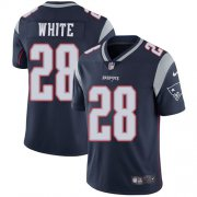 Wholesale Cheap Nike Patriots #28 James White Navy Blue Team Color Men's Stitched NFL Vapor Untouchable Limited Jersey