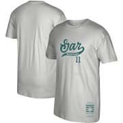 Wholesale Cheap Seattle Mariners #11 Edgar Martinez Mitchell & Ness 2019 Hall of Fame Graphic T-Shirt Gray