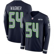 Wholesale Cheap Nike Seahawks #54 Bobby Wagner Steel Blue Team Color Men's Stitched NFL Limited Therma Long Sleeve Jersey