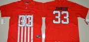 Wholesale Cheap Men's Ohio State Buckeyes #33 Pete Johnson Red Elite Stitched College Football 2016 Nike NCAA Jersey