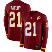 Wholesale Cheap Nike Redskins #21 Sean Taylor Burgundy Red Team Color Men's Stitched NFL Limited Therma Long Sleeve Jersey
