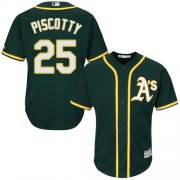 Wholesale Cheap Athletics #25 Stephen Piscotty Green Cool Base Stitched Youth MLB Jersey
