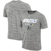 Wholesale Cheap Oakland Athletics Nike Authentic Collection Velocity Team Issue Performance T-Shirt Gray